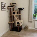 Stort lækkert kvalitets katte kradsetræ med huler
